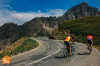 Cycling the Col du Galibier on the Tour de France race viewing bike trip