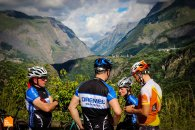 Rest stop on the way up to Col du Lautaret in the Frech Alps