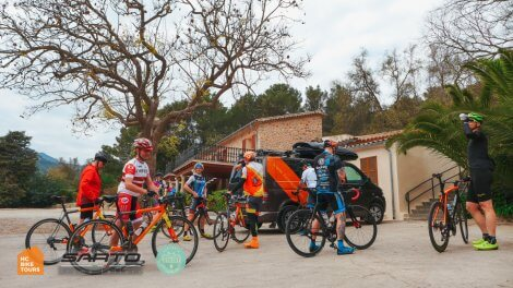 Mallorca bike camp 2019 group ready for a ride to Cap Formentor