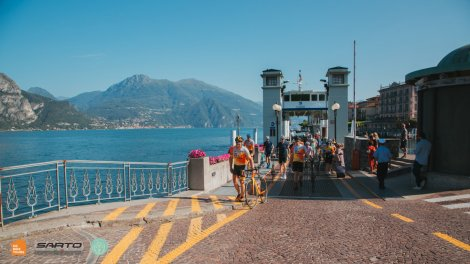Lake Como ferry works well when it`s needed to connect great cycling routes - on a private Como cycling holidays with HC Bike Toufrs