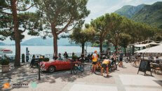 Menaggio town on the lake Como - coffee stop on a Private cycling vacations with HC Bike Tours