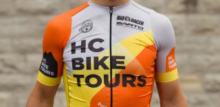 HC Bike Tours design cycling jersey for sale made by Bioracer
