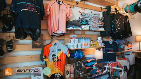HC Bike Tours shop - we sell Sarto road bikes, Gobik cycling clothing and more