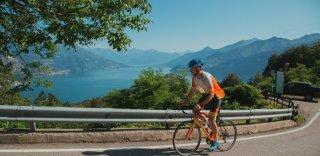 Artis Kalveits Ride Guide at HC Bike Tours riding the lake Como bike trip
