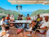 Mallorca bike camp 2021 - Estellencs cycling coffee stop - HC Bike Tours
