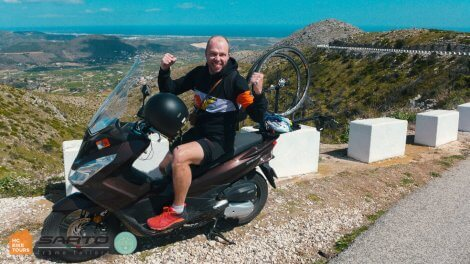 Motorbike SAG support and motorpacing in Mallorca | HC Bike Tours