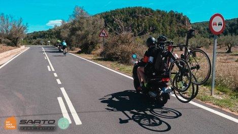 Mallorca cycling SAG support by motorbike | HC Bike Tours