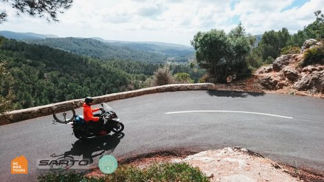 Mallorca motorpacing by motorbike scooter and SAG support for cyclists | HC Bike Tours
