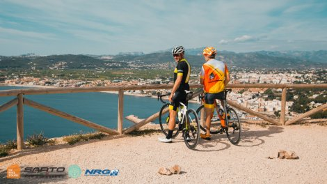 View of Xabia town in Alicante region of Spain while cycling with HC Bike Tours