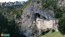 Predjama Castle Slovenia cycling trip with HC Bike Tours