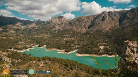 Guadalest Reservoir in Alicante Spain while cycling with HC Bike Tours