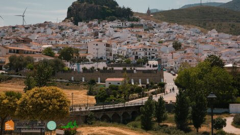 See white villages in Andalusia touring bike with HC Bike Tours